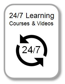 24/7 Learn icon